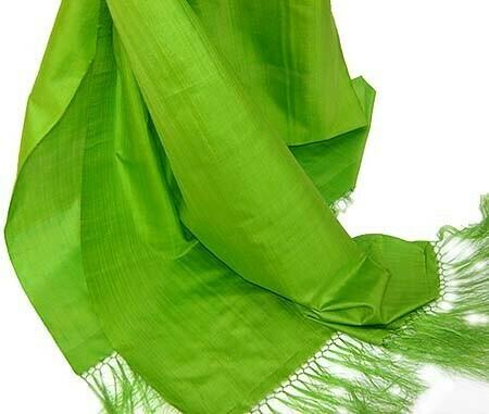 Green apple silk scarf