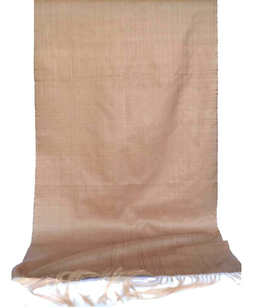Camel color solid silk scarf