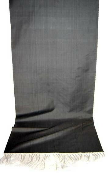 Noble gray solid silk scarf