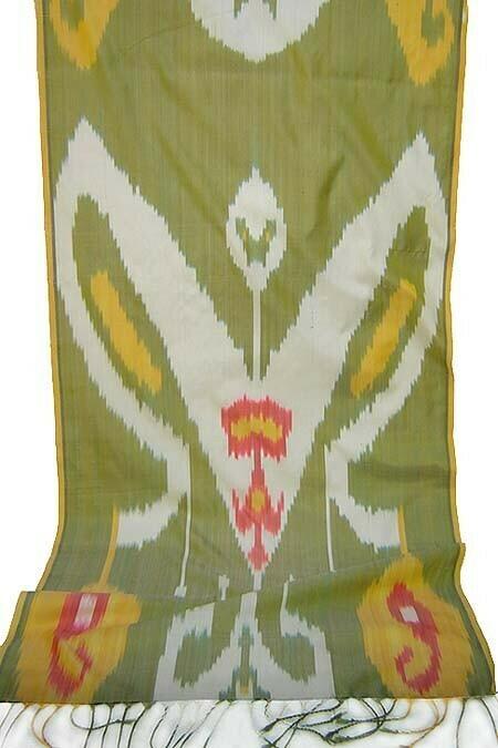 """As is - """"Butterfly ikat"""" silk ikat scarf"""