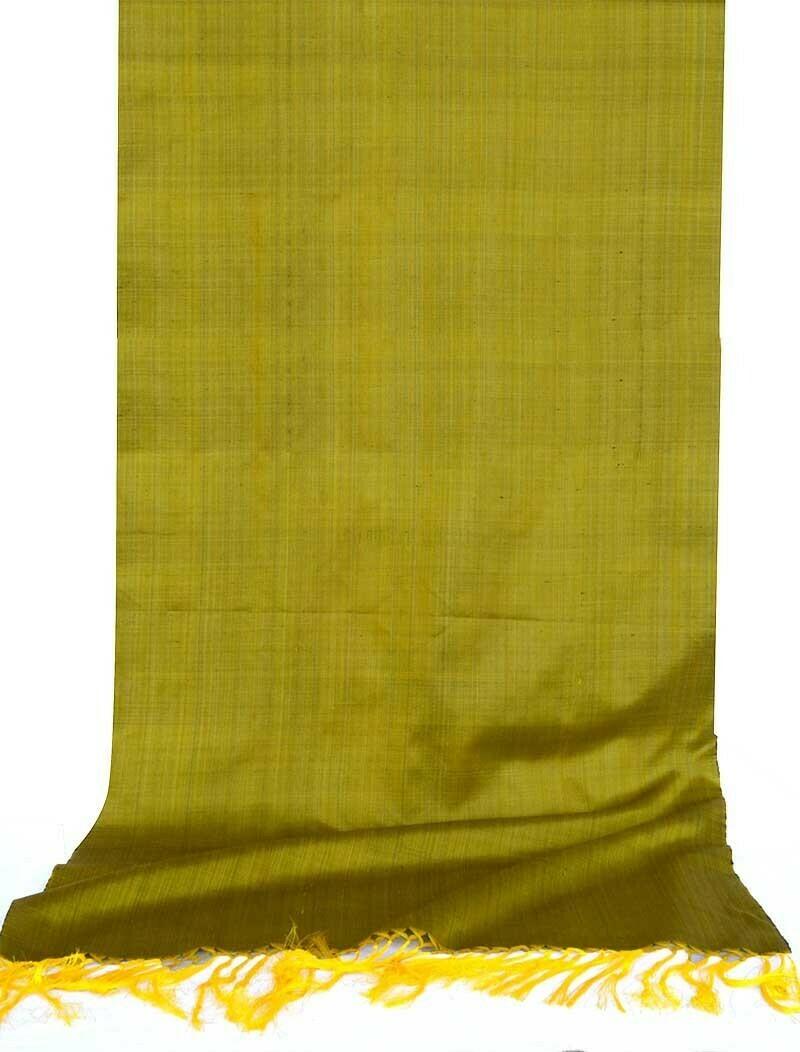 Mustard color solid silk scarf
