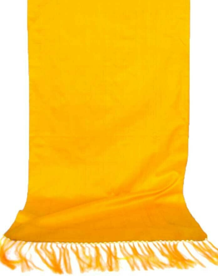 """""""Sunshine yellow"""" silk scarf"""
