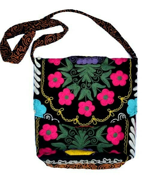 As Is - suzani style embroidered hand bag