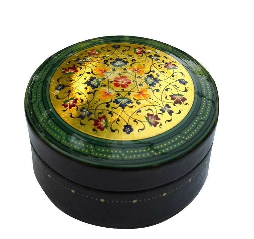 """""""Overflown with joy"""" hand painted jewelry box"""