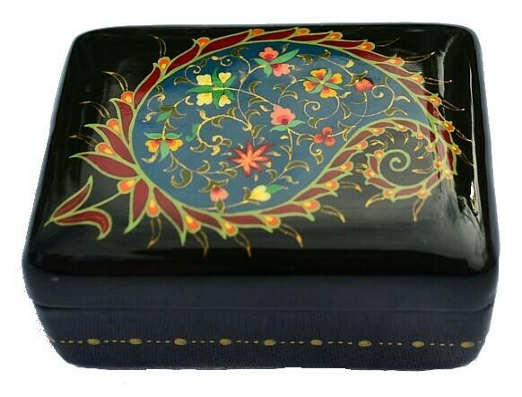 """Paisley"" hand painted jewelry box"