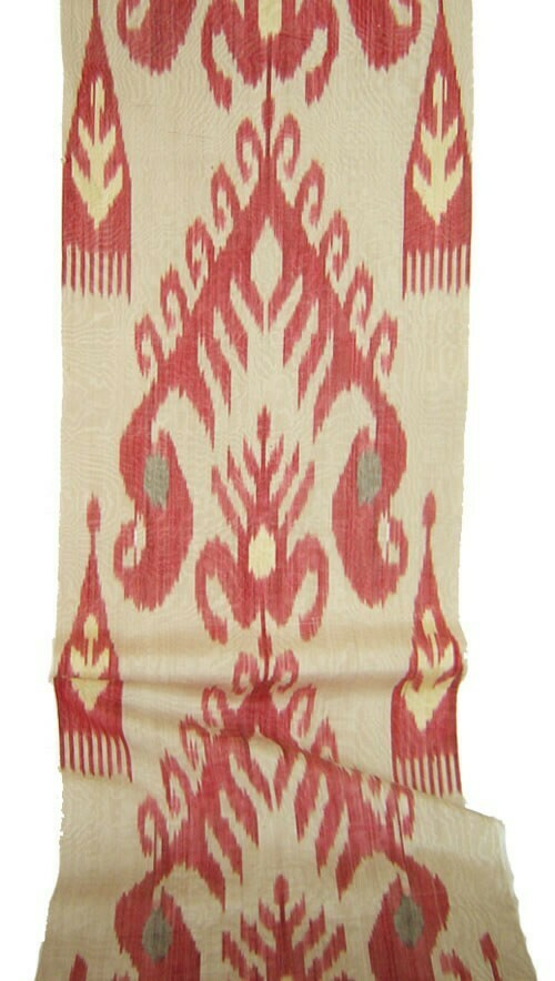 """Pomme in traditions"" organic ikat fabric"