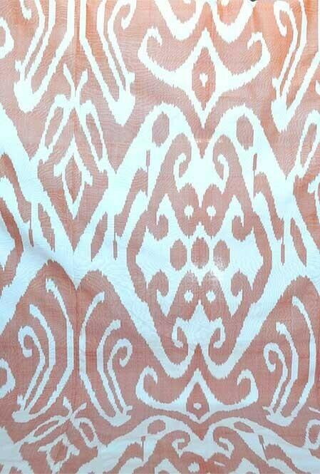 """Abrikos"" wide ikat fabric"