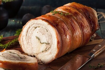 Porchetta Roast Supper | Friday or Saturday Aug 14th or 15th, 2020  (Servings-4)