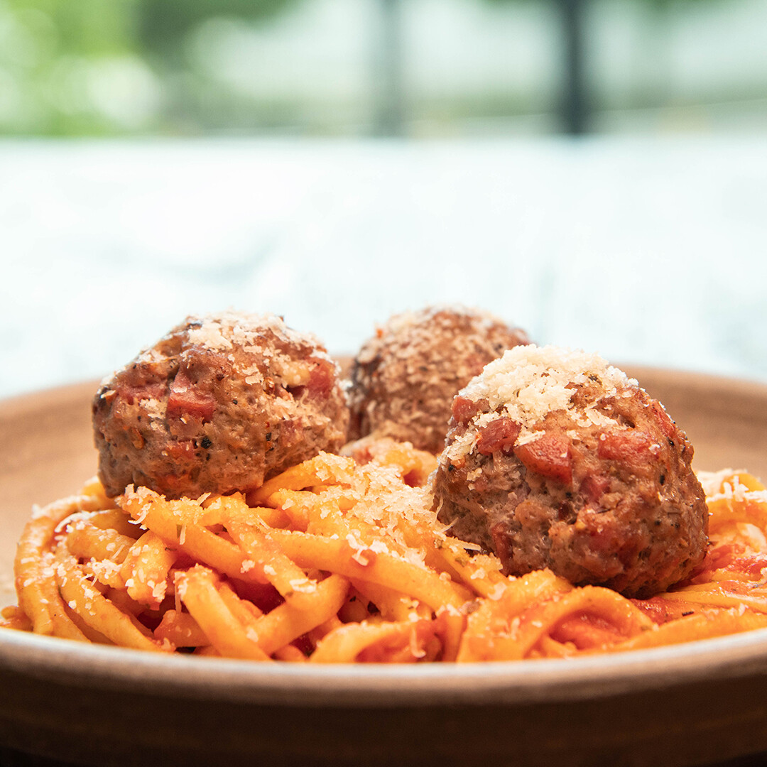 Spaghetti & Soppressata Meatballs