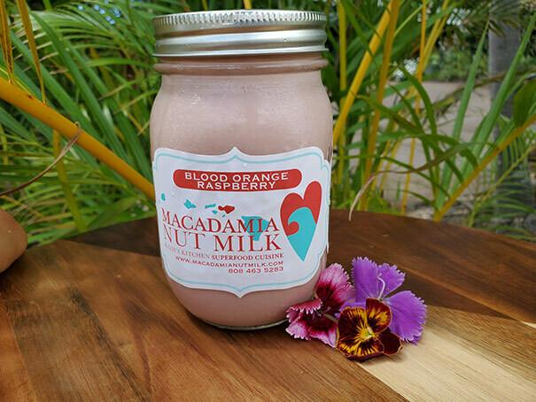 Macadamia Nut Milk - Blood Orange Raspberry