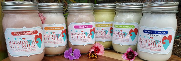Three (3x) 16oz Macadamia Nutmilks