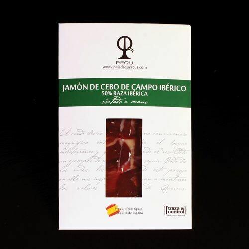 JAMÓN DE CEBO DE CAMPO IBÉRICO  - 100 g.