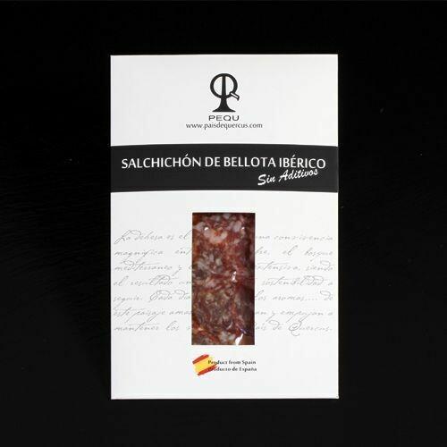 SALCHICHÓN DE IBÉRICO PURO BELLOTA 6@PQ - 100 g.