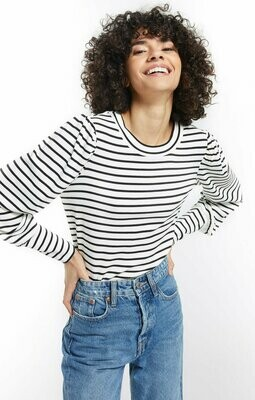 Z Supply Clemente Striped Puff Sleeve