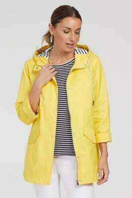 Tribal Rain Jacket With Striped Liner