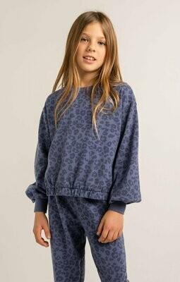Z Supply Kids Carmen Leopard Sweater