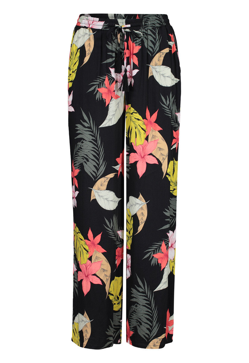 Tribal Wide Leg Pant With Drawstring