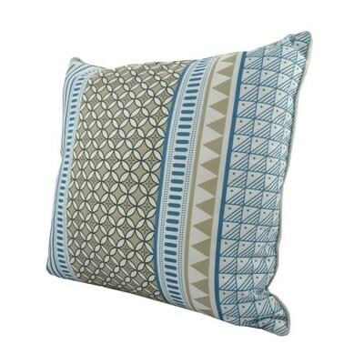 Cushion Blue/Sand/White Pattern
