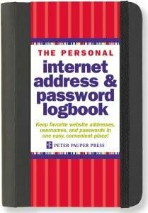 Peter Pauper Address & Password Book