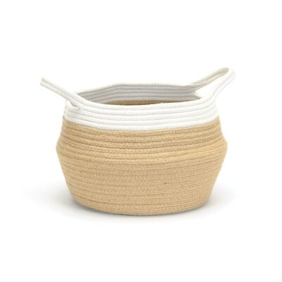 Cotton Jute Belly Basket