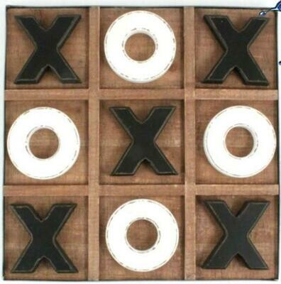 Wooden Tic Tac Toe Table Top Board Game