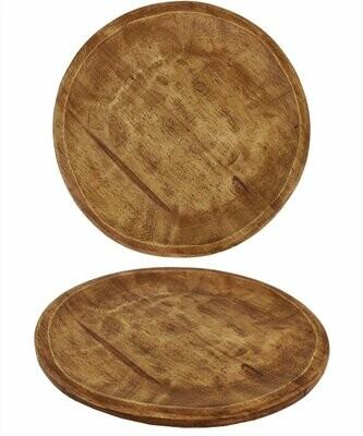 Reclaimed Round Wooden Platter