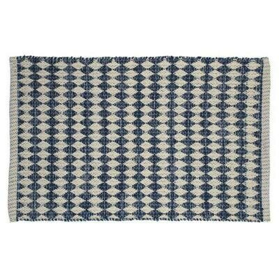 Rug Blue And Natural With Motif