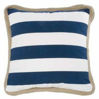 Cushion Striped With Jute Border