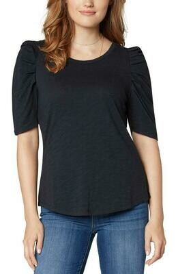 Liverpool Gathered Short Sleeve Knit Top