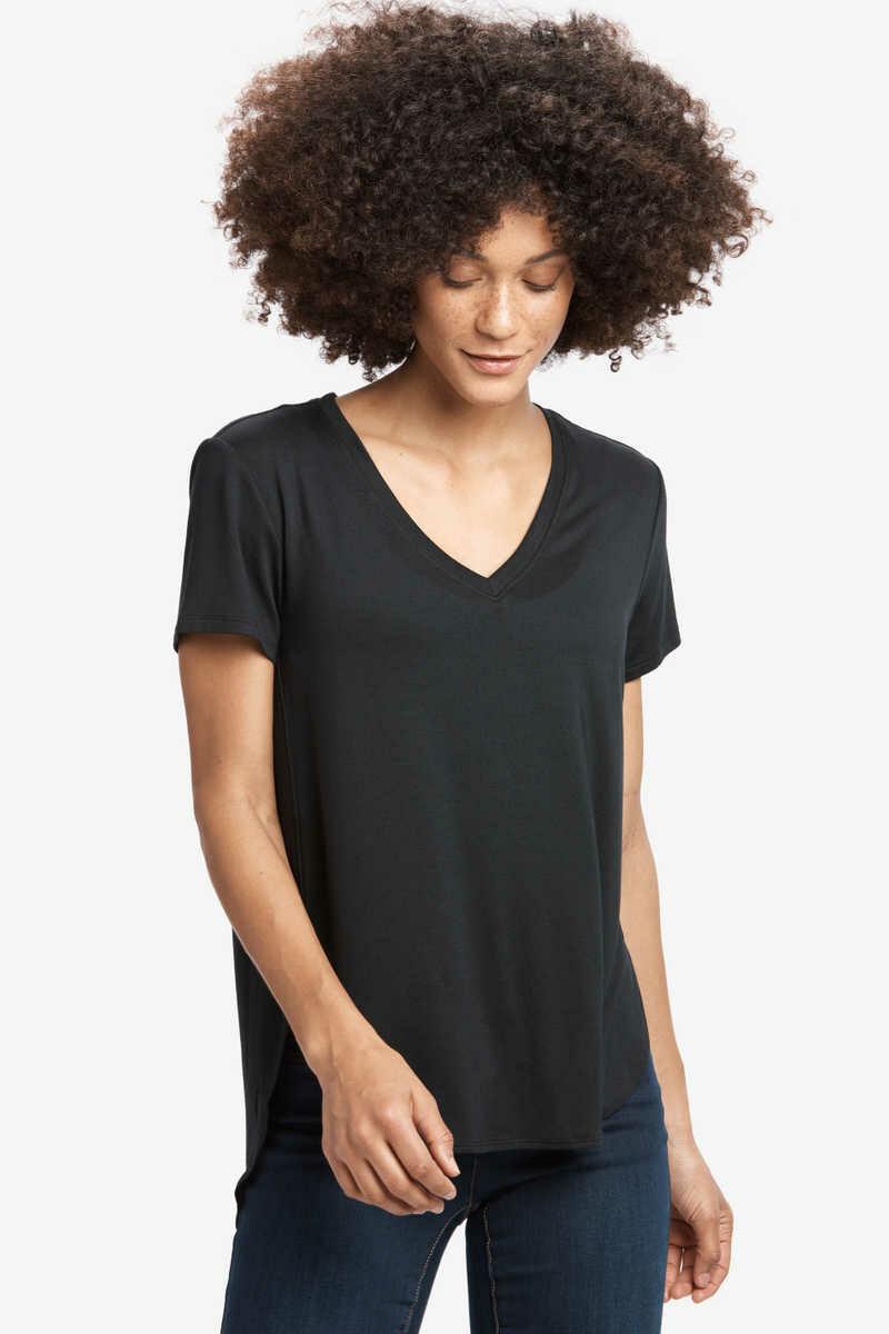 Lole Agda V-Neck Short Sleeve Top
