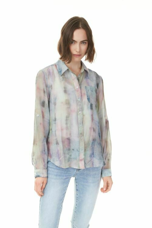 Charlie B Printed Multicolor Blouse