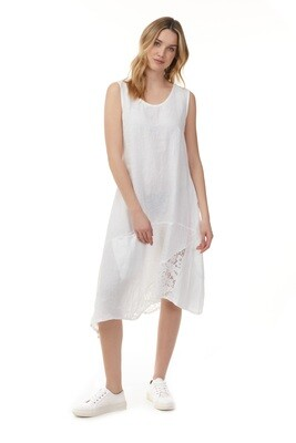Charlie B Asymmetrical with Lace Insert Dress