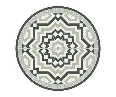 Round Vinyl Floor Mat Classic Neutrals 022111