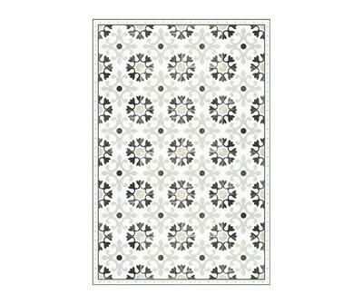 Rectangle Vinyl Floor Mat Ceramics 033412 Antique