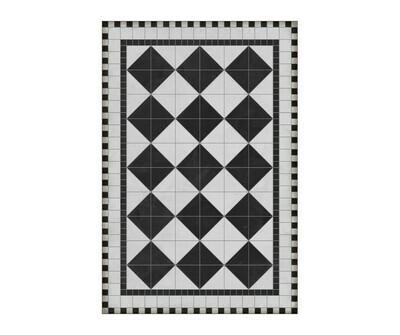 Rectangle Vinyl Floor Mat Rockefeller 020690