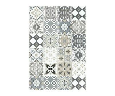 Rectangle Vinyl Floor Mat Ceramics 033394 Antique