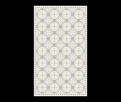 Rectangle Vinyl Floor Mat Classic Neutrals 023774