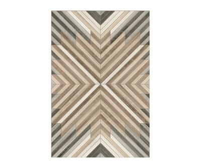 Rectangle Vinyl Floor Mat Marquetry 023780