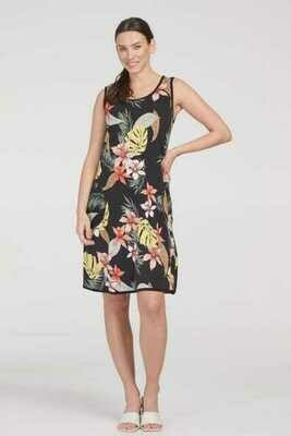 Tribal Patterned Reversible A-Line Dress