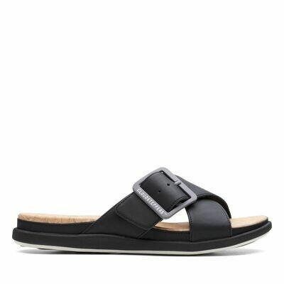 Clarks Step June Shell Slip On Buckle Sandal