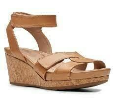 Clarks Un Capri Strap Wedge Sandal