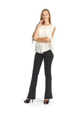 Papillon Blouse with Split and Tie Sleeve