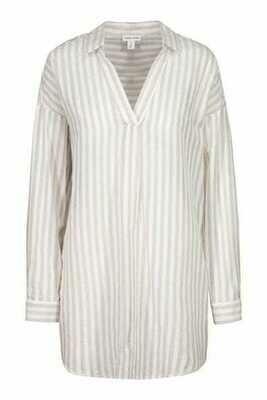 Tribal Loose Tunic Striped Blouse