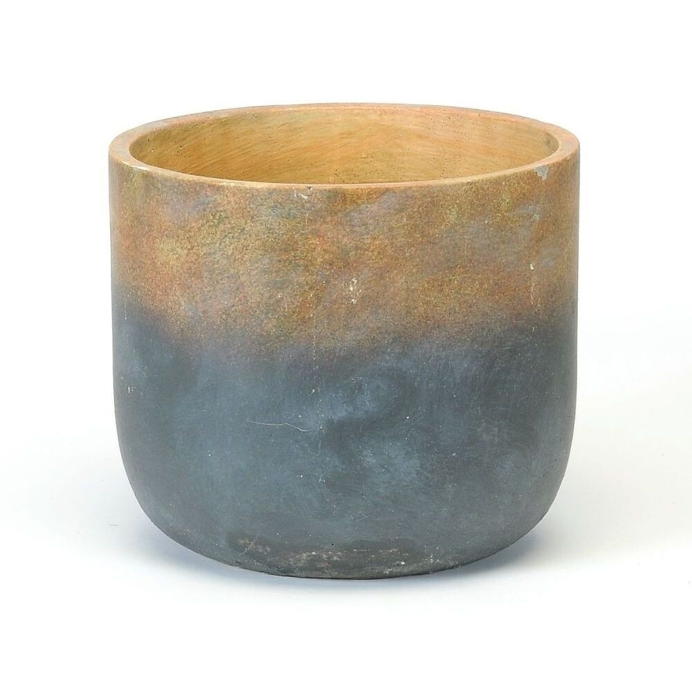 Earth Blue Dipped Base Pot