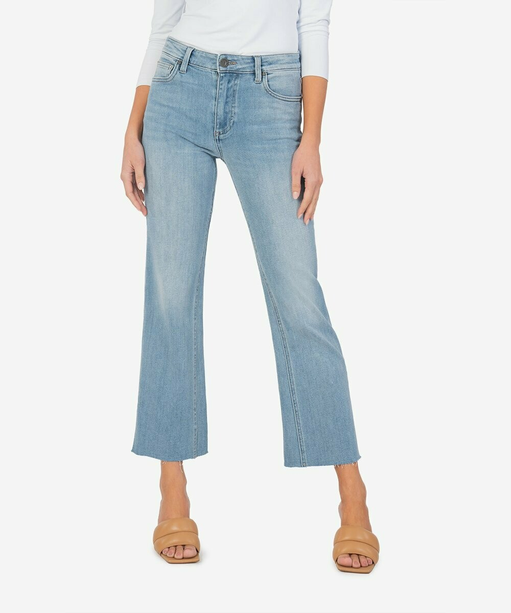 Kut from the Kloth Kelsey High Rise Ankle Raw Hem