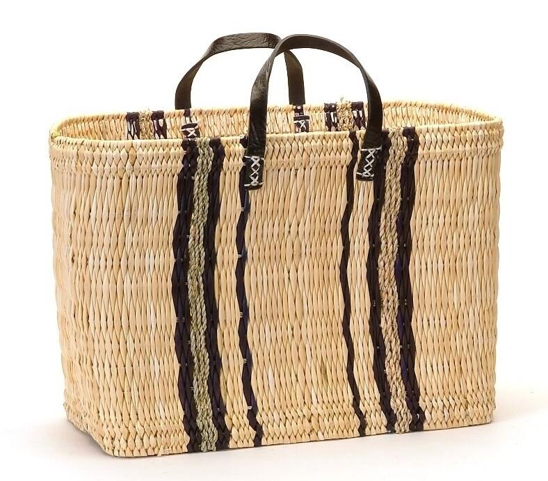 Rectangle Indigo Stripe Market Bag