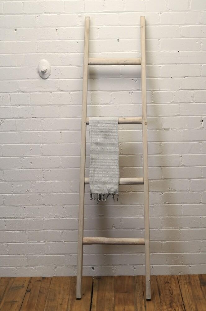 Wood Ladder Whitewash
