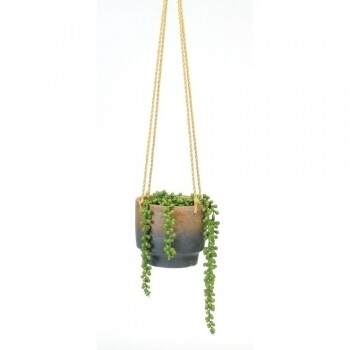 Earth Blue Dipped Base Hanging Pot