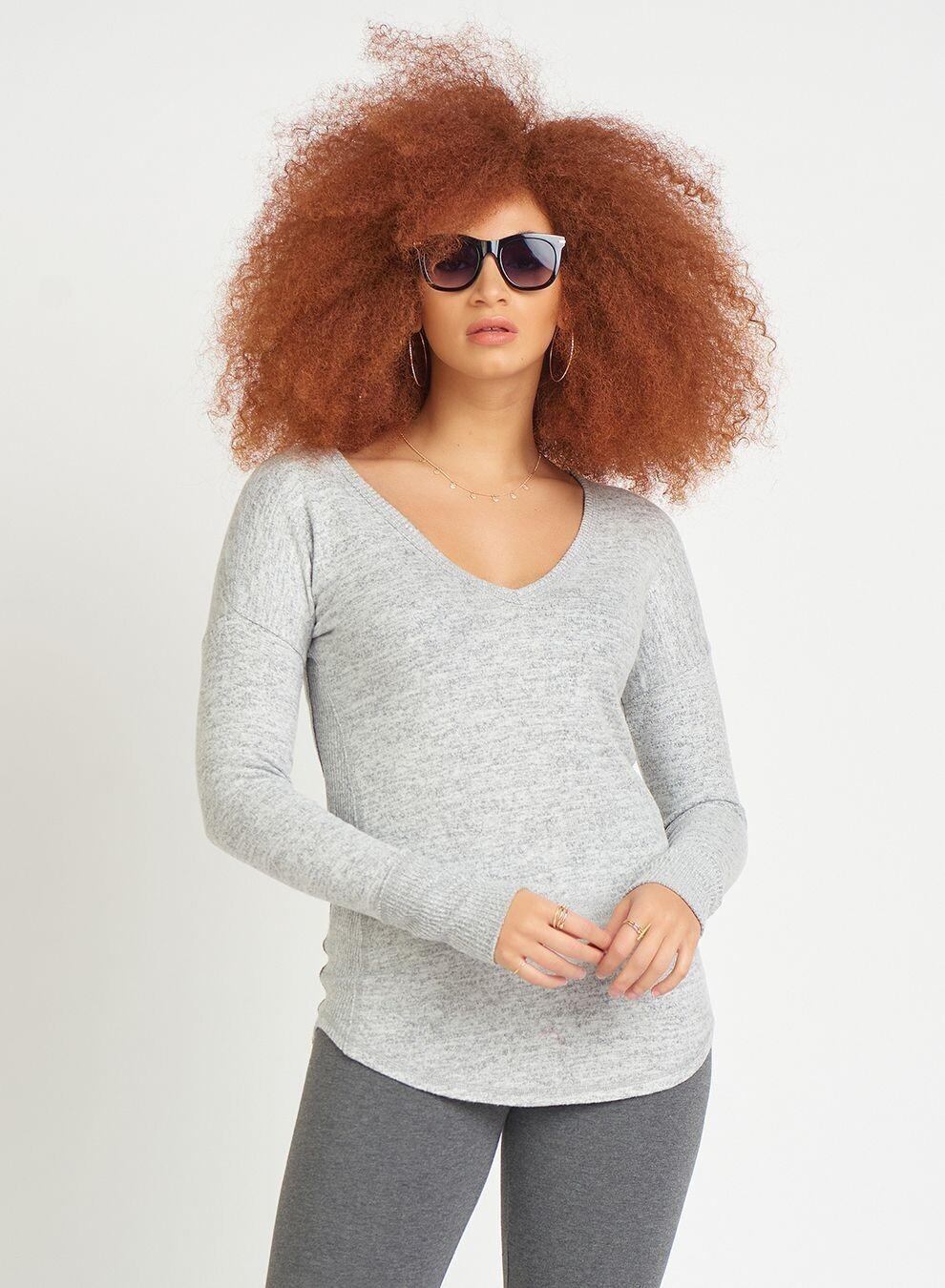 Dex Soft Long Sleeve V-neck Top
