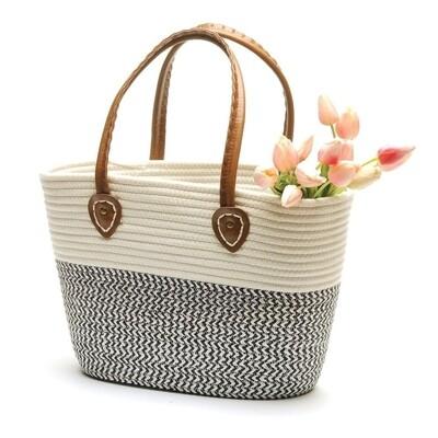 White and Black Market Bag